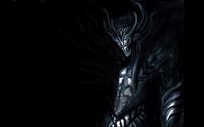 Картинка тьма, демон, пасть, рога, дьявол