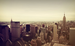 Картинка город, Нью-Йорк, небоскребы, Manhattan, New York City