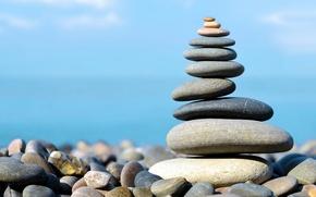 Картинка пляж, камни, берег, beach