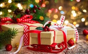 Картинка украшения, Новый Год, Рождество, Christmas, decoration, gifts, Merry