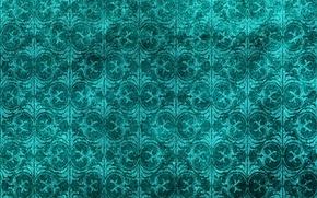 Картинка цветы, зеленый, фон, узор, текстура