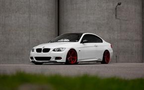 Картинка BMW, Red, White, E92, Wheels
