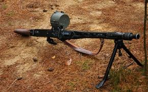 Картинка войны, пулемёт, немецкий, мировой, Второй, времён, MG 42, единый, (Maschinengewehr 42)