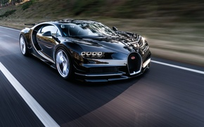 Обои bugatti, chiron, car, supercar, road, speed, wallpaper