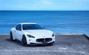 Картинка Maserati, GranTurismo, White