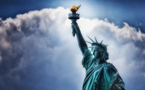 Картинка небо, свобода, фон, статуя