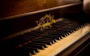 Картинка музыка, фон, Old Piano