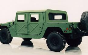 Картинка HMMWV, M-998, грузовой открытый автомобиль, высокомобильное многоцелевое колёсное транспортное средство, High Mobility Multipurpose Wheeled Vehicle, …