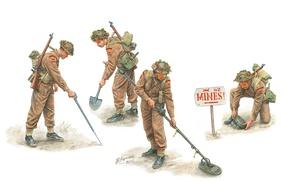 Картинка арт, солдаты, инженеры, британские, королевские, WW2., саперы