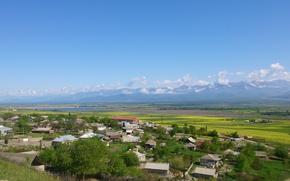 Картинка деревня, Азербайджан, Azerbaijan, Шеки, кавказские горы, Caucasus
