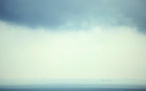 Картинка море, вода, туман