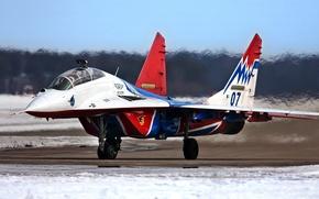Картинка самолет, истребитель, миг-29уб, стрижи
