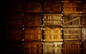 Обои разное, креатив, ящики, подвал, фото, склад, коробки