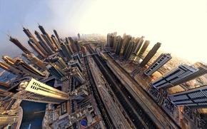 Картинка город, небоскребы, Dubai, дубай, оаэ, эмираты