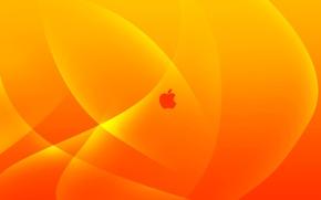 Обои apple, mac, orange, yellow, logo