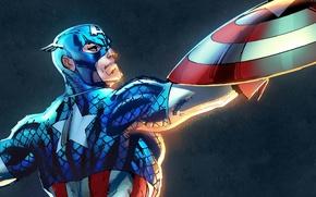 Картинка супергерой, marvel, Капитан Америка, captain america, Marvel Heroes, коллекционная карточка steam