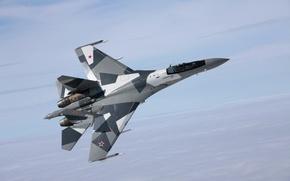 Обои Су-35, полет, истребитель