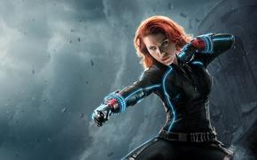 Обои Scarlett Johansson, Girl, Red, Hero, Beautiful, the, Black, Wallpaper, Super, Black Widow, Year, EXCLUSIVE, MARVEL, ...