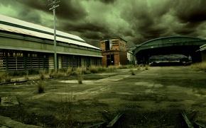 Картинка мрак, ангар, гаражи