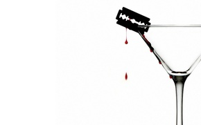 Картинка кровь, Минимализм, лезвие