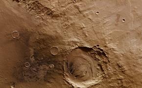 Обои кратер, Марс, Скиапарелли