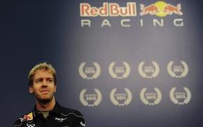 Картинка Формула 1, Formula 1, Red Bull, Vettel, Champion, Чемпион, Sebastian