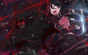 Обои оружие, Kirigaya Kazuto, Sword Art Online, Shouichi Shinkawa, Gun Gale Online, Kirito