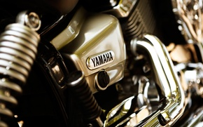 Картинка мотоцикл, Yamaha, хром
