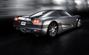 Картинка дорога, асфальт, серый, черный, Koenigsegg, карбон, Koenigsegg CCX, тунель, CCX, Кенигсегг