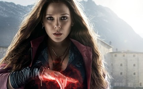 Картинка фантастика, комикс, Scarlet Witch, Elizabeth Olsen, Элизабет Олсен, Wanda Maximoff, Avengers: Age of Ultron, Мстители: …
