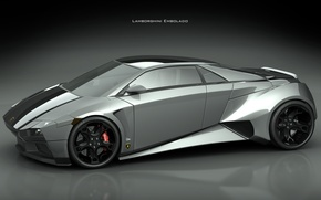 Обои мощь, серый, Lamborghini Embolado