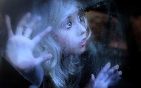 Картинка взгляд, стекло, капли, Rainy Day Blues