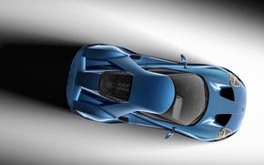 Картинка Concept, Ford, Синий, Вид, Концепт, Форд, Сверху, 2017