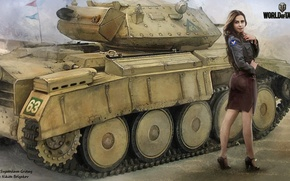 Картинка девушка, танк, girl, танки, WoT, Мир танков, tank, World of Tanks, tanks, Wargaming.Net, BigWorld, гусли, …