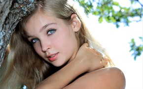 Картинка девушка, лицо, милая, модель, волосы, блондинка, губки, красивая, Sienna