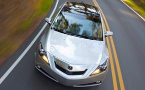 Обои дорога, Auto, Acura ZDX on road, скорость