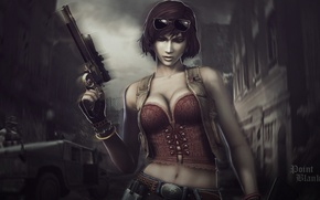 Картинка девушка, Оружие, girl, weapon, поинт бланк, Point blank
