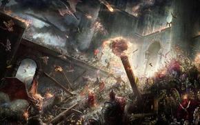 Картинка война, фэнтези, сражение, Эпическая битва