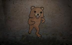 Картинка фон, стена, медведь, bear