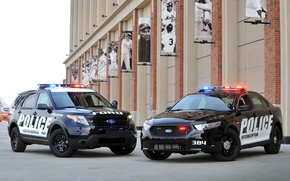 Картинка Ford, полиция, джип, седан, форд, Taurus, Sedan, спец.версия, эксплорер, таурус, Police Interceptor, Explorer