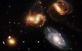 Картинка вселенная, Космос, скопление, галактики
