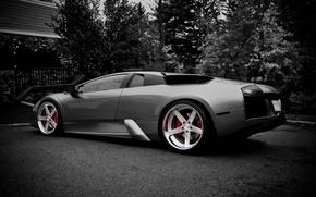 Картинка Lamborghini, черно-белое, литье