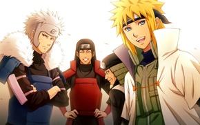Картинка аниме, арт, Naruto, хокаге, Минато