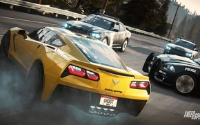 Картинка Corvette, Chevrolet, Need for Speed, nfs, dodge, police, charger, Stingray, 2013, Rivals, NFSR