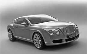 Обои Bentley, Continental, Ч/б, авто
