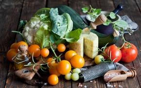 Картинка масло, сыр, овощи, помидоры, капуста, брокколи, соль, Anna Verdina