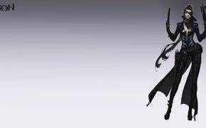 Картинка девушка, пистолет, эльф, арт, плащ, Aion, стрелок, gunner, Aion 4.0