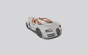 Картинка Veyron, Minimalistic, White, Vitesse, Grand, Bugatti, Sport