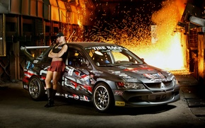 Обои sport, домна, Mitsubishi Lancer Evolution 9