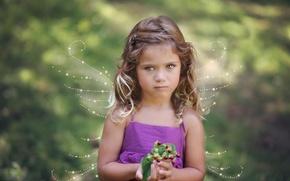Картинка ангел, девочка, крылышки